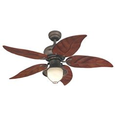 """View the Westinghouse 7861965 Oasis 48"""" 5 Blade Hanging Indoor Ceiling Fan with Reversible Motor, Blades, Light Kit, and Down Rod Included at LightingDirect.com."""