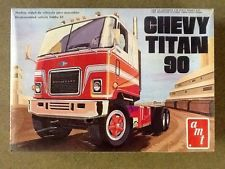 AMT 1/25 CHEVY TITAN 90 CABOVER TRUCK VINTAGE MODEL KIT # T509  FACTORY SEALED