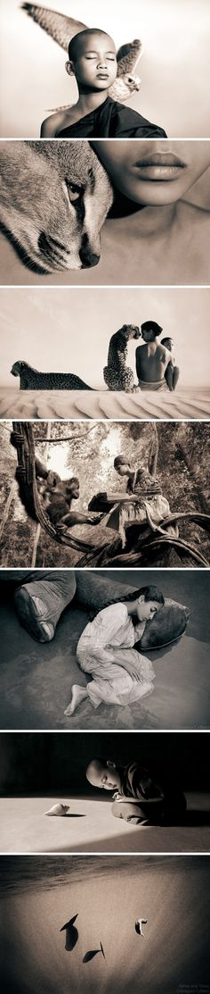 Snow and Ashes series by Gregory Colbert captures the beautiful relationship between man and wildlife.