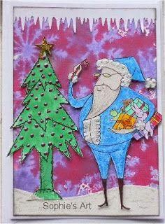 Sophie's Art: Weihnachtsmann  -  Santa Claus