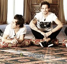louis' body language and jealous eyebrow thing he does when zayn calls harry sexy…