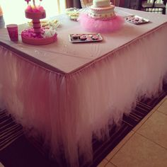 How to make a tutu skirt for your table whether it's for a party or a baby shower or for whatever event you wish to make it for. you'll need -a tape measurer...