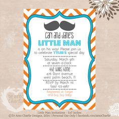 Baby Shower Invite Printable Invites Editable Little Man Mustache