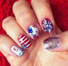 july nail art designs