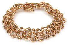 shopgoodwill.com: 31g 14K Gold Stately Parallel Chain Bracelet