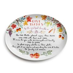 Ceramic Giving Plate with Poem