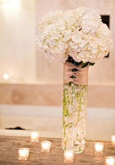 Ideas con velas para darle un ambiente cálido y elegante a un boda en otoño ó en invierno.Velas para lograr un toque rural, vintage o chic en vuestra boda