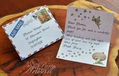 Tiny Personalized & Printable Tooth Fairy Letter and envelope - The Party Artisan