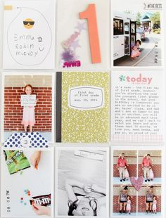 Emma's 1st grade pages: August – November