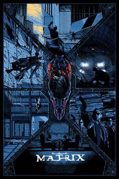 """Affiche originale DW Design Not Mondo """"Matrix"""" par Kilian Eng private commission not for sell , Taille 24""""x36"""". Regular Screenprint, @asgalerie #asgalerie #mondo #kilianeng #Matrix."""