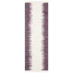 Safavieh Hand-woven Montauk Purple Cotton Rug (2'3 x 7')
