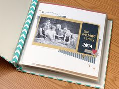 Use title pages on your scrapbooking albums to add spice and create cohesion with your pages.