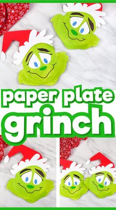This paper plate Grinch is a fun Christmas activity for kids and families! Use it at home or for the classroom. Download the free printable template to make it super simple! Great for kindergarten and elementary.     #simpleeverydaymom #paperplatecrafts #christmasactivities #christmascrafts #kidscrafts #craftsforkids #kindergarten #elementary   #holidaycrafts