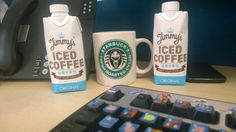 Good start to the morning with @jimmyicedcoffee and in my dry roasted Cylon cup! #BSG #Keepyourchinup