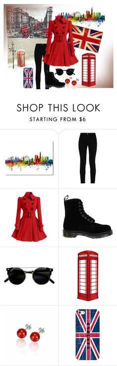 """London Enlgand"" by tigerlily64 ❤ liked on Polyvore featuring STELLA McCARTNEY, Dr. Martens, jcp and Casetify"