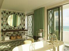 Soho Beach House hotel in Miami, Florida Soho House, Soho Beach House Miami, Beach House Hotel, Miami Beach, Miami Florida, Beach Mansion, South Beach, Motif Baroque, Luxury Bath