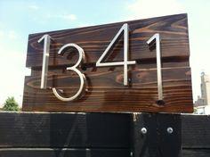 Mid century modern custom address sign by DaddysSimpleSigns, $90.00