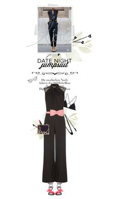 """Date Night: Jumpsuit Style"" by cultofsharon ❤ liked on Polyvore featuring Miu Miu, Kiki de Montparnasse, NARS Cosmetics, Dolce&Gabbana, Lulu Guinness and RED Valentino"