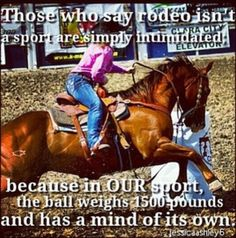 Riding is a sport, if it was easy they would call it football...