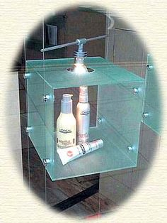 Acrylic display with lighting | pinned by www.peregrineplastics.com