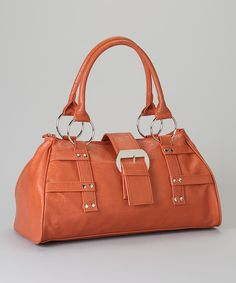Take a look at this Burnt Orange Buckle Satchel on zulily today!