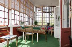 Nineteenth century veranda, Sweden. (Punschveranda)