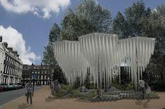 Rainforest installation. © GUN Architects