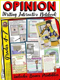 Teach your students the art of persuasion with this interactive unit. The key to writing a good opinion piece is to adhere to structure, maintain cohesion and develop style. The activities in this unit provide ample scaffolding to enable students to organize content-specific information and write persuasively on a given topic.  https://www.teacherspayteachers.com/Product/OPINIONPERSUASIVE-WRITING-INTERACTIVE-NOTEBOOK-1477695