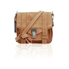 PROENZA SCHOULER PS1 Pouch Suede Dune (65.150 RUB) ❤ liked on Polyvore featuring bags, handbags, shoulder bags, suede pouch, strap purse, pouch purse, suede handbags and shoulder strap bag