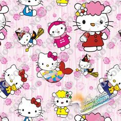FCM39 hello kitty digital print fabric, fancy print fabric, digital fabric