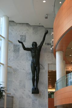 Rochester MN. Inside the Mayo Clinic. Years ago before the remodel, it was on the outside of the building at the main doors welcoming all who came.