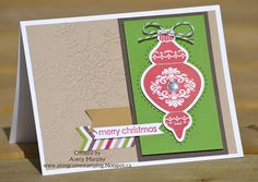 Along Came Stamping: Ornament Keepsakes FMS101 #stampinup #FMS