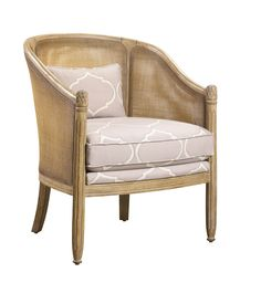 U-RG-4076-2126 Genevieve Occasional Side Chair in SE-FHN-953 Arabesque Dove Hemp fabric available at French Heritage.