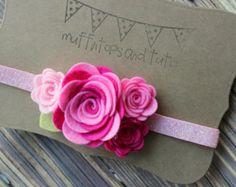 Caída fieltro flor garland diadema diadema por muffintopsandtutus