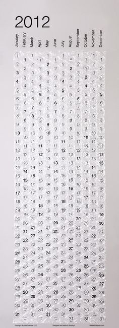 bubble wrap calendar never wanted to next day to come so badly...