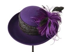 womens hat wool cloche purple hat womens by IfTheHatFitsByJackie, $50.00