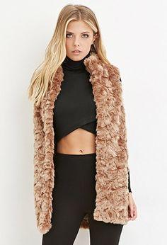 Contemporary Faux Fur Longline Vest | LOVE21 - 2000141953