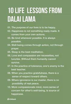 10 Inspirational Life Lessons From Dalai Lama                              …