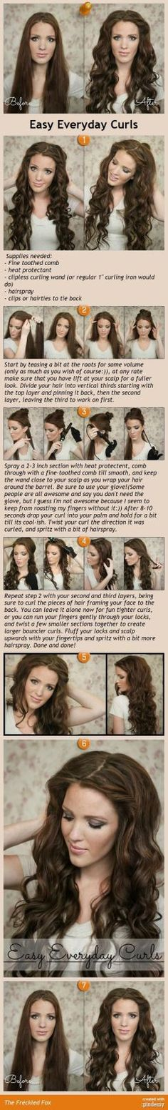 Long Curled Wedding Hair | Easy Everyday Curls