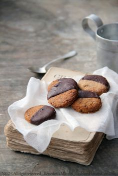 Cookies vegan  glutenfree , dipped in chocolate
