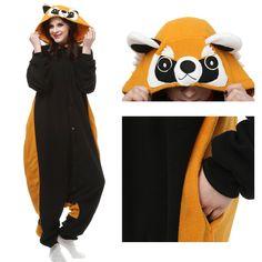 ef89196060f1 Red Panda Onesie Unisex Women  Men Animal Pajama Kigurumi Party Costume