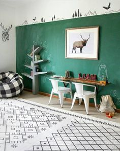 Get inspired with kids bedroom, kids' playroom ideas and photos for your home refresh or remodel. Wayfair offers thousands of design ideas for every room in every style. Playroom Design, Kids Room Design, Playroom Ideas, Boys Room Paint Ideas, Small Playroom, Playroom Organization, Playroom Decor, Green Boys Room, Room Boys