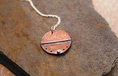 Folded Copper & Silver Necklace by BalsamrootRanch on Etsy, $46.00