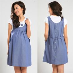 2015 Nuevo Verano Vestido de Maternidad de Maternidad de Una sola pieza de Vestimenta casual Denim embarazo Arco Ropa Ropa para Mujeres Embarazadas(China (Mainland))