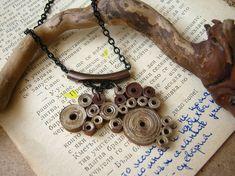 Paper Anniversary gift For Women Girlfriend necklace  от SbirOtak
