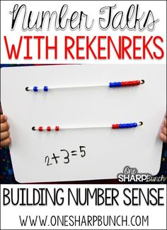 Rekenreks are one our favorite math manipulatives to help build number sense in Kindergarten!  Come check out how we made over 200 DIY dry erase rekenreks in only one day!  Don't forget to grab our rekenreks FREEBIE, which is the perfect complement to any