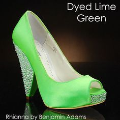 DYEABLE LIME GREEN 208 Wedding Shoes And LIME GREEN 208 Dyeable Bridal Shoes  DYED_SHOES