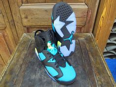 Nike Air Jordan Retro 6 AJ6 Basketball Shoes Womens Shoes Black Blue|only US$98.00 - follow me to pick up couopons.
