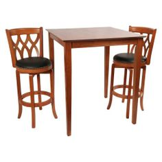 3 Pc Westbrook Set Pub Table And Two Barstools Bar