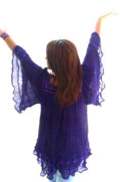 fb0aac420a0 Tepoztlan Crochet Details sheer Gauze cotton by elizabethpalmer, $98.00  Gypsy Crochet, Mexican